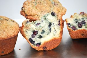 Air Fryer Blueberry Muffins