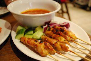 air fryer Korean chicken skewers